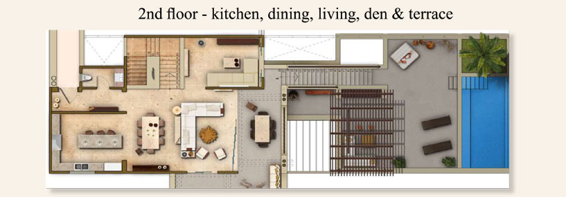 2nd floor floorplan—Punta Mita Luxury Resorts, Los Veneros